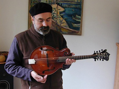 John Reischman and his Heiden mandolin